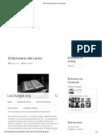 El Ministerio Del Lector _ LaLiturgia.org