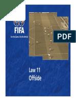 Fifa law 11 Offside