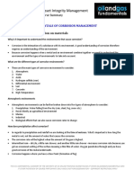Corrosion Management Course Summary Module 3