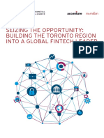 Building TheToronto Region Into a Global Fintech Leader TFSA 2017