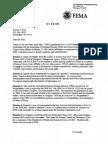 10/2/09 FEMA reply to my 5/1/09 letter to Secretary Jane Napolitano re
