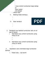 DST-T3 Namakan Dua Contoh Tumbuhan Bagi Setiap Ciri Berikut