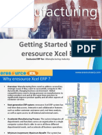 Getting Started With Xcel Job Production ERP - ERP for Manufacturing | eresource ERP