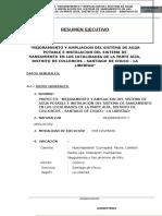 Modelo de Resumen Ejecutivo en Saneamiento