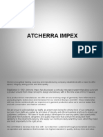 Atcherra Impex - company profile.ppt