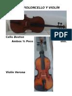 Vendo Violoncello y Violín