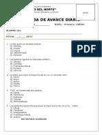 Formato de Las Pruebas de Avance Diario 6to Prim