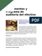 27947031Fundamentos y Programa de Auditoria Del Efectivo