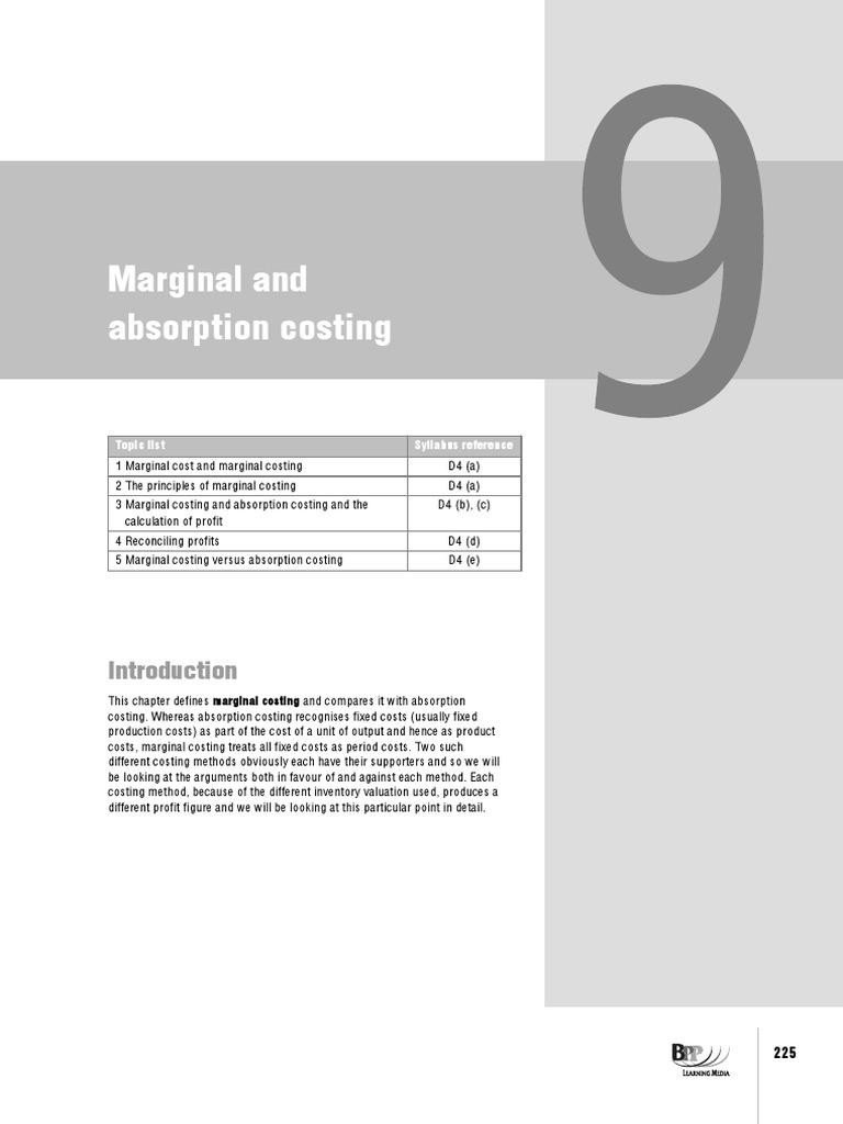 project on marginal costing The difference between marginal costing and absorption costing may 09, 2018 / steven bragg  marginal costing is not allowed for financial reporting purposes, so its use is restricted to internal management reports  project management purchasing guidebook.