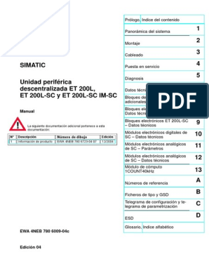 Siemens 6es7193-1cl10-0xa0 SIMATIC DP terminal bloque 32 canales para et 200l