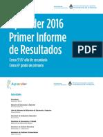 Primer Informe Nacional Aprender 2016