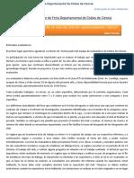 Rol Del Evaluador de Feria Departamental de Clubes de Ciencia