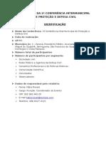 Relatório de Conferência Municipal de Proteção e Defesa Civil