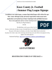2017 Knox County Junior Football 5-6 Summer Flag Flyer and Registration Form
