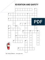 Fire Prevention Safety Lp Ff Crossword