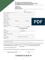 2017 Knox County Junior Football Registration Form