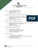 Level 1-Quiz1-Spanish Feb 2005
