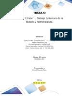1. Estructura de La Materia y Nomenclatura (1) (2)