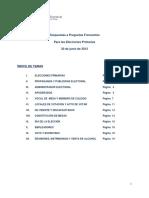 Preguntas Frecuentes Elecciones Prirmarias 2013