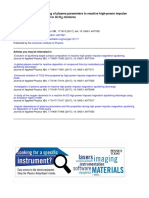 Measurement and Modeling of Plasma Parameters in Reactive High-power Impulse