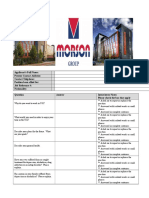 MORSON GROUP Job Interview Questionnaire Form