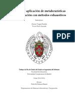 Estudio y aplicación de metaheurísticas y comparación con métodos exhaustivos