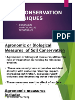 biological soil conservation techniques