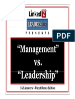 Management vs Leadership on Linkedin