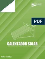 Calentador Solar Ft