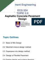 5. Topic 2-Asphaltic Concrete Pavement Design-Week 7-9