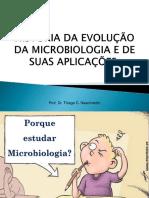 Aula 1 - História Da Evolução Da Microbiologia e de Suas Aplicações.