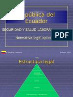 Legislacion Ecuatoriana Aplicable - Seguridad Industrial