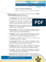 Evidencia 10 Sentences Marketing Plan MRC