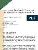 Lectura a Prueba de Errores de la interacción Codon Anticodon.pptx