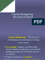 Capital Buget