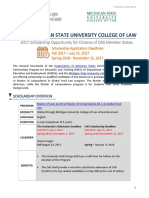 2017 OAS-MSU Scholarship Announcement