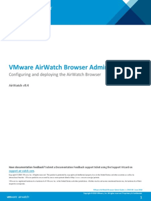VMware AirWatch Browser Admin Guide | Http Cookie | Proxy Server