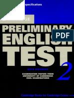 Cambridge Preliminary English Test Self Study 2 [Book]