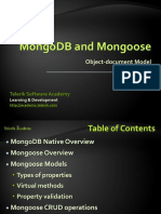 MongoDB and Mongoose in NodeJS