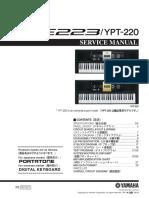 Yamaha Psr-e223 Ypt-220 Sm
