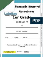 1er Grado - Bloque 4 - Matemáticas