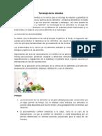Tecnología de Los Alimentos