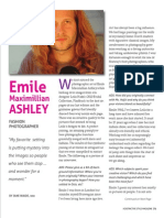 An interview with Fashion Photographer Emile Ashley, page 1