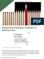 Marketing Personal_ Elabora Tu Propio Plan