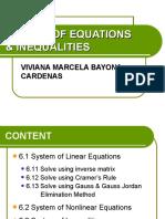 Sisitemas de Ecuaciones y Inecuaciones