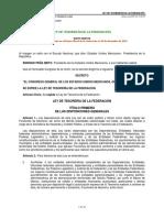 Ley de Tesorería de La Federación