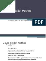 Gauss Siedel Method