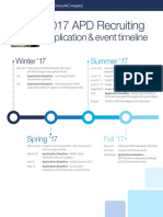 APD Recruiting Timeline