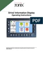 Driver Information Display