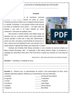 Interpretacao de Texto Resumo Do Filme Zootopia SAA